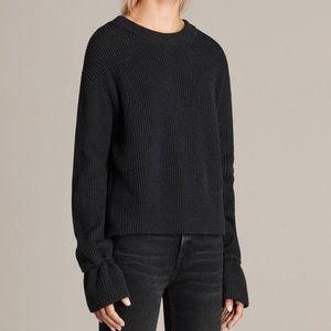 All Saints Eloise Sweater Jumper SZ S Dark Grey